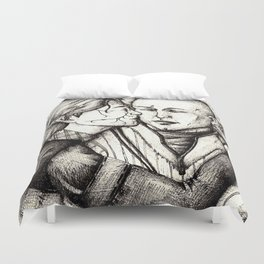 Elves and elfroot Duvet Cover