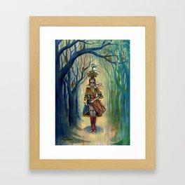 Dia de los Muertos Victorian Drummer Girl Framed Art Print
