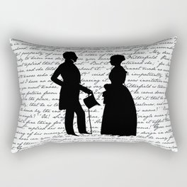 Pride and Prejudice design - White Rectangular Pillow