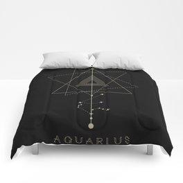 Aquarius Zodiac Constellation Comforters