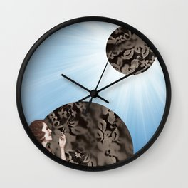 Lace Bubbles Wall Clock