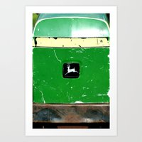 john green Art Prints featuring John Deere Green..... by LeeRay Flowers