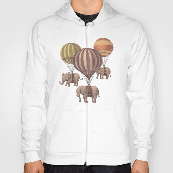 Flight of the Elephants - mint option Hoody