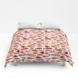 School of tropical fish pattern Comforters