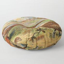 Vintage Pheasants Floor Pillow