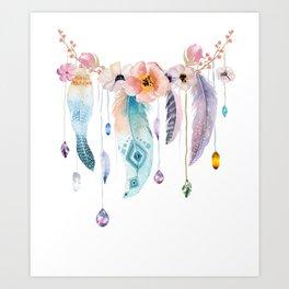 Atherstone Feather Spirit Gazer Art Print