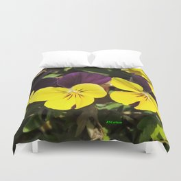 The Pansies at the Corner Duvet Cover