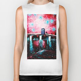 tardis love starry night Biker Tank