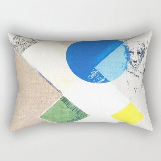 abstract dog sketch Rectangular Pillow