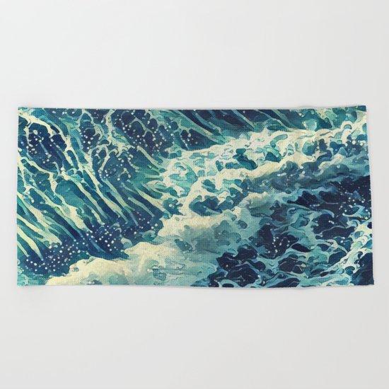 Every tide hath its ebb Beach Towel