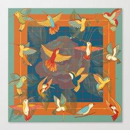 Hummingbirds in Orange Canvas Print
