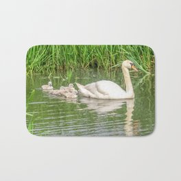 Swan Family Bath Mat