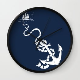 Our Anchor We Will Weigh Wall Clock