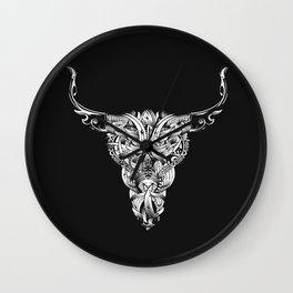 Head of a bull - White - Wall Clock