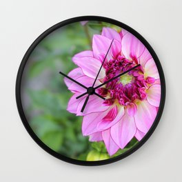 Marquette Pink Flower Wall Clock