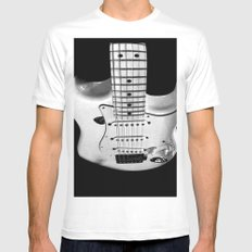 While my guitar gently weeps MEDIUM Mens Fitted Tee White