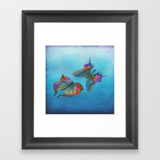 Butterflies and Blue Skies Framed Art Print