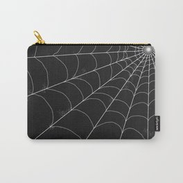 Spiderweb on Black Carry-All Pouch