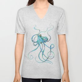 Drunk Octopus Unisex V-Neck