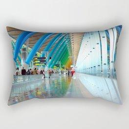 Rainbow at Barajas Rectangular Pillow