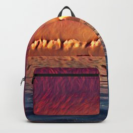 Red Abstract 3 Backpack