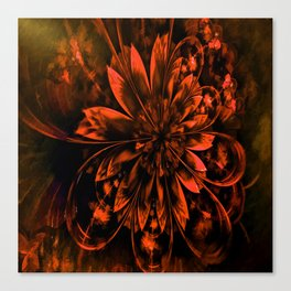 Red Flower XCX Canvas Print