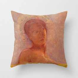"Odilon Redon ""Closed Eyes"" Throw Pillow"