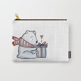 Christmas gift bear Carry-All Pouch