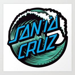 Santa Cruz Waves Art Print