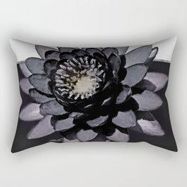 Black Lotus Watercolor Digital Art 3 Rectangular Pillow