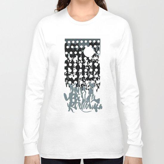 grey calligraphy (screen print) Long Sleeve T-shirt