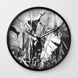 Banana grove Wall Clock