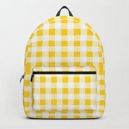Yellow and White Buffalo Check Backpack