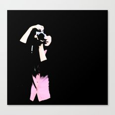 girl w/ camera Canvas Print