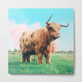 Highland Cow #society6 #decor #buyart Metal Print