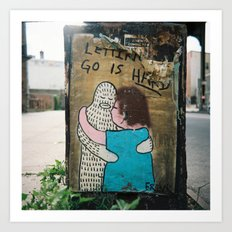 Letting Go is Hard  Art Print