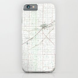 TX Hereford 117831 1985 topographic map iPhone Case