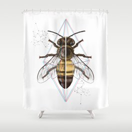 BeeSteam Shower Curtain