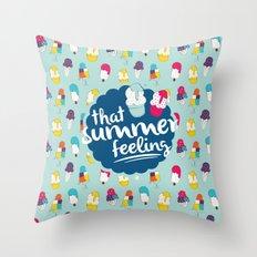 That summer feeling - Blue Throw Pillow