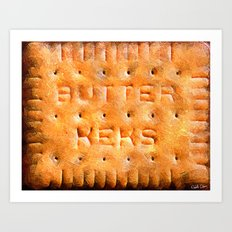 Butterkeks Cookie Art Print