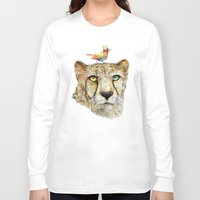 cheetah Long Sleeve T-shirts featuring Cheetah by dogooder