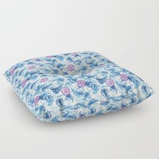 Ipomea Flower_ Morning Glory Floral Pattern Floor Pillow