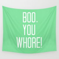 mean girls Wall Tapestries featuring Mean Girls #4 – Boo by Enyalie