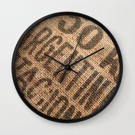Burlap sack Wall Clock