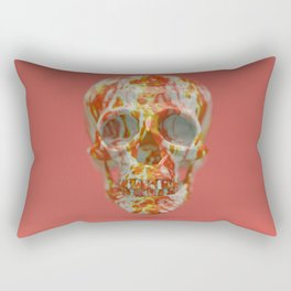 Red Candy Skull Rectangular Pillow