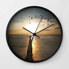 Northern coast Wall Clock