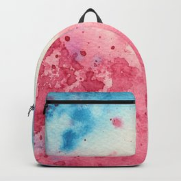 When pink meets blue || watercolor Backpack
