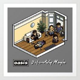 Oasis: Definitely Maybe - Isometric Pixel Art Art Print