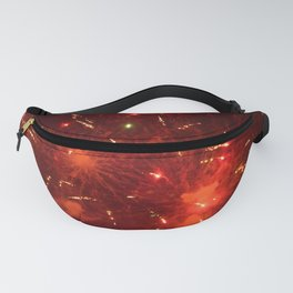 Red Fireworks Fanny Pack