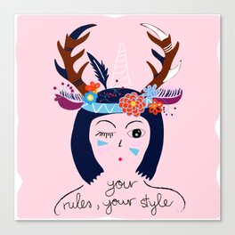 Your Rules Your Style Canvas Print